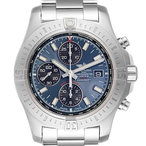 Photo of Breitling Colt Blue Dial Automatic Chronograph Steel Mens Watch A13388