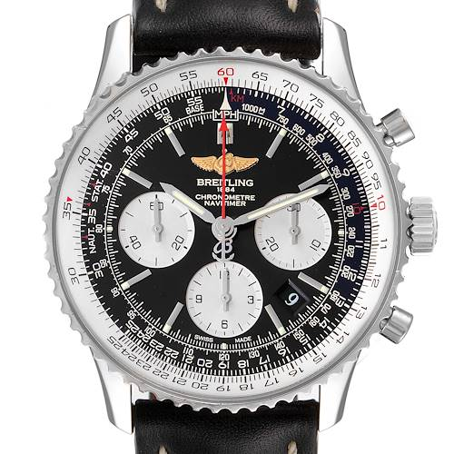 Photo of Breitling Navitimer 01 Black Strap Automatic Steel Watch AB0120 Box Card