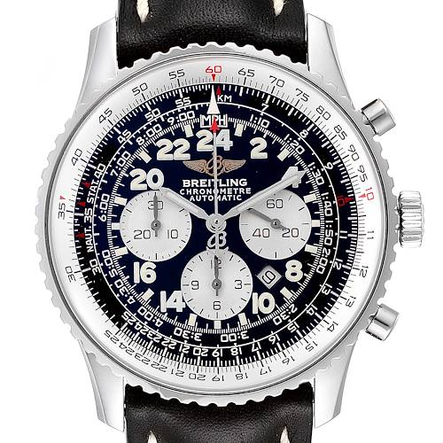 Photo of Breitling Navitimer Cosmonaute Black Dial Steel Mens Watch A22322