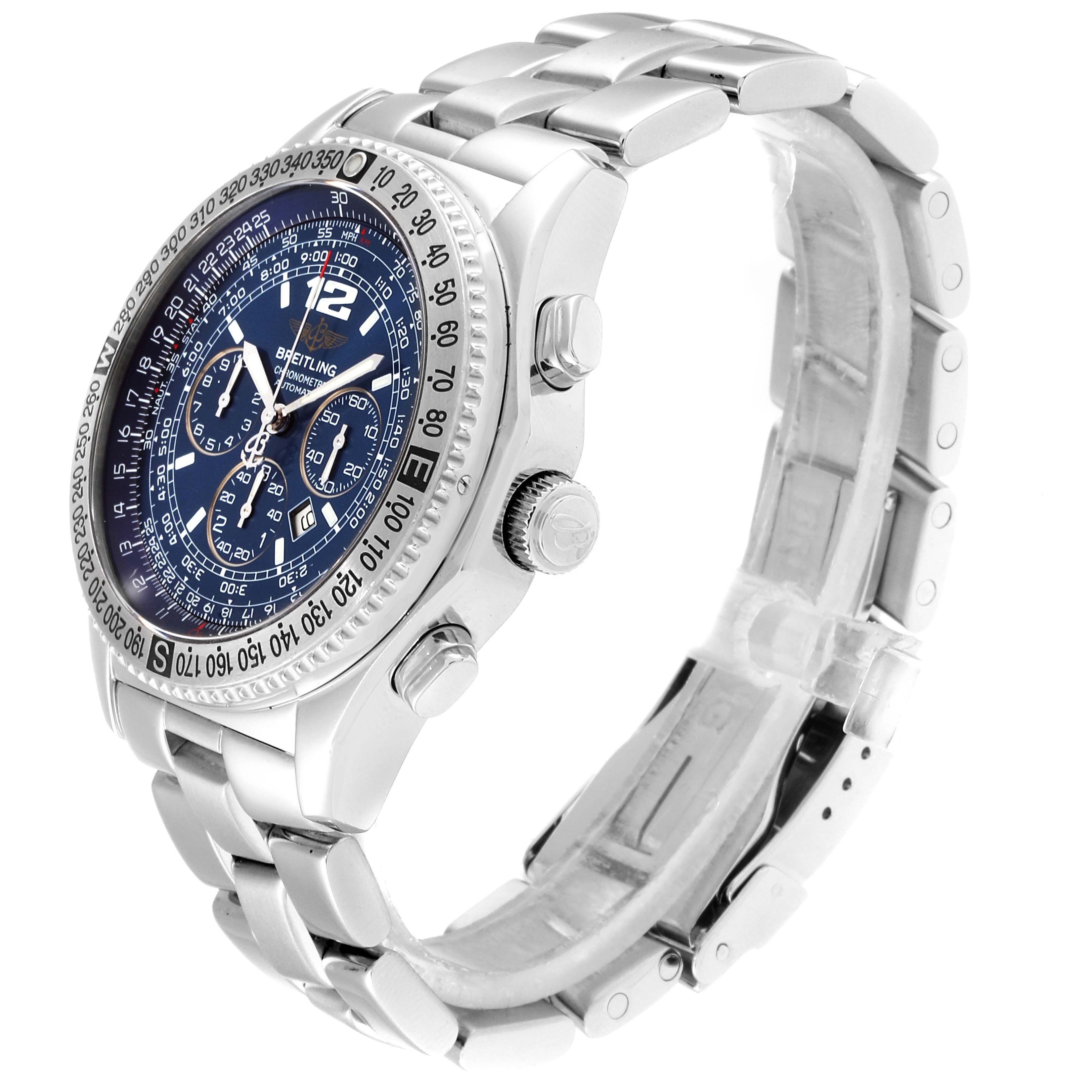 Breitling Professional B-2 Mens Chronograph Steel Watch A42362 Box Papers SwissWatchExpo