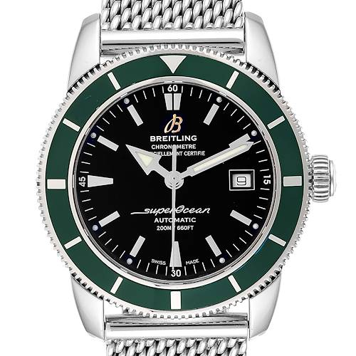 Photo of Breitling Superocean Heritage 42 Green Bezel Steel Mens Watch A17321