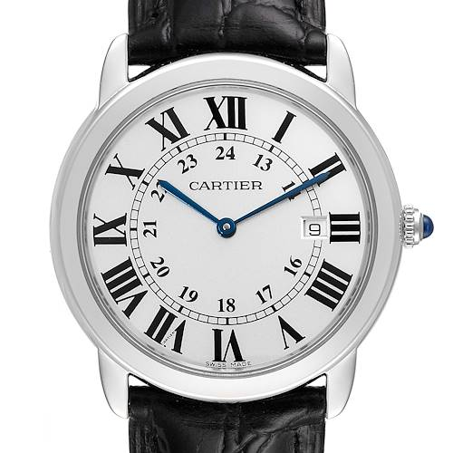 Photo of Cartier Ronde Solo Large Silver Dial Steel Unisex Watch W6700255