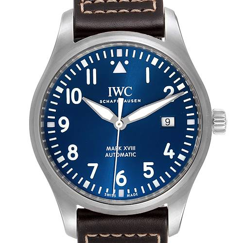 Photo of IWC Pilot Mark XVIII Petit Prince Blue Dial Mens Watch IW327010