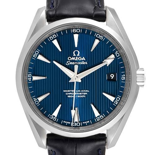 Photo of Omega Seamaster Aqua Terra Blue Dial Mens Watch 231.13.42.21.03.001 Box Card