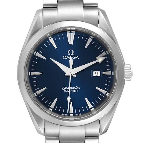 Photo of Omega Seamaster Aqua Terra Blue Dial Steel Mens Watch 2517.80.00