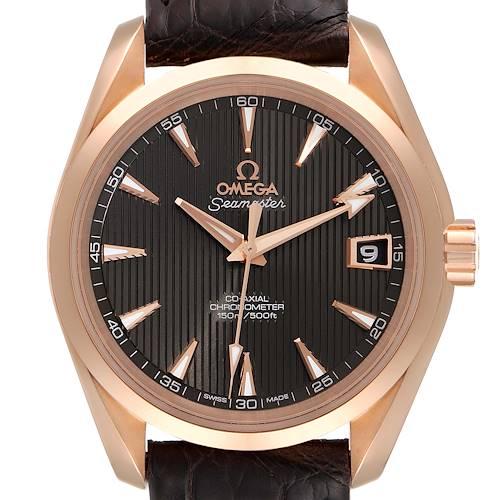 Photo of Omega Seamaster Aqua Terra Rose Gold Watch 231.53.39.21.06.001 Box Crad