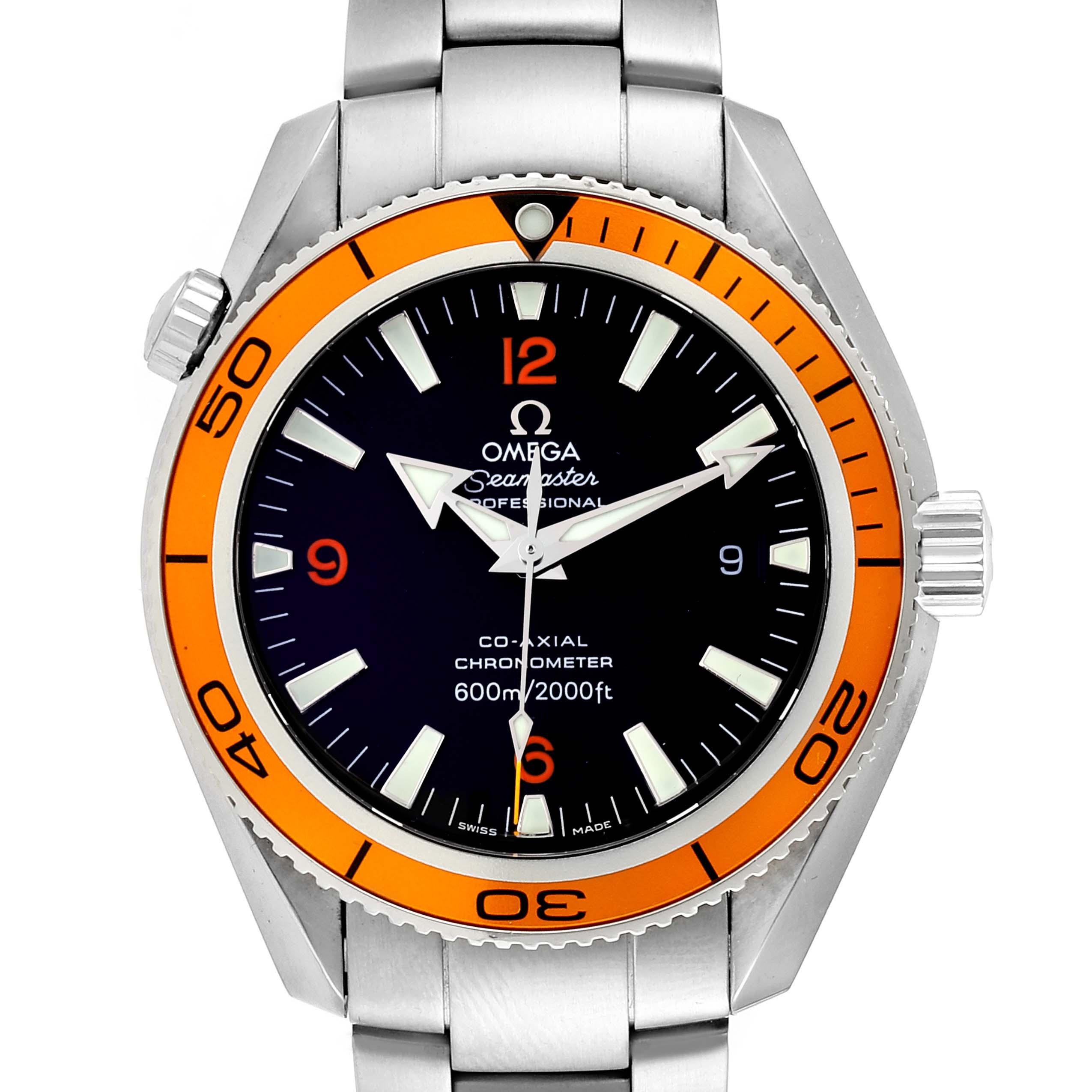 Omega Seamaster Planet Ocean Orange Bezel Watch 2209.50.00 Card