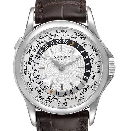 Photo of Patek Philippe World Time Automatic White Gold Mens Watch 5110 Box Papers