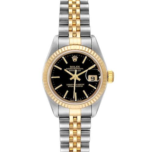 Photo of Rolex Datejust Steel Yellow Gold Black Dial Ladies Watch 79173