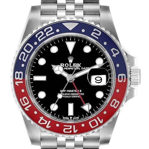 Photo of Rolex GMT Master II Pepsi Bezel Jubilee Steel Mens Watch 126710 Unworn