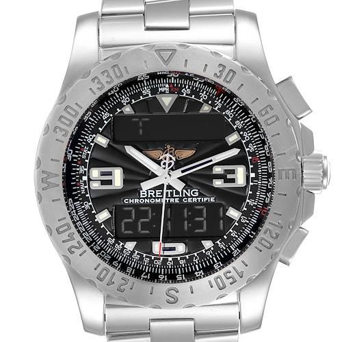 Photo of Breitling Airwolf GMT Grey Dial Quartz Steel Mens Watch A78363
