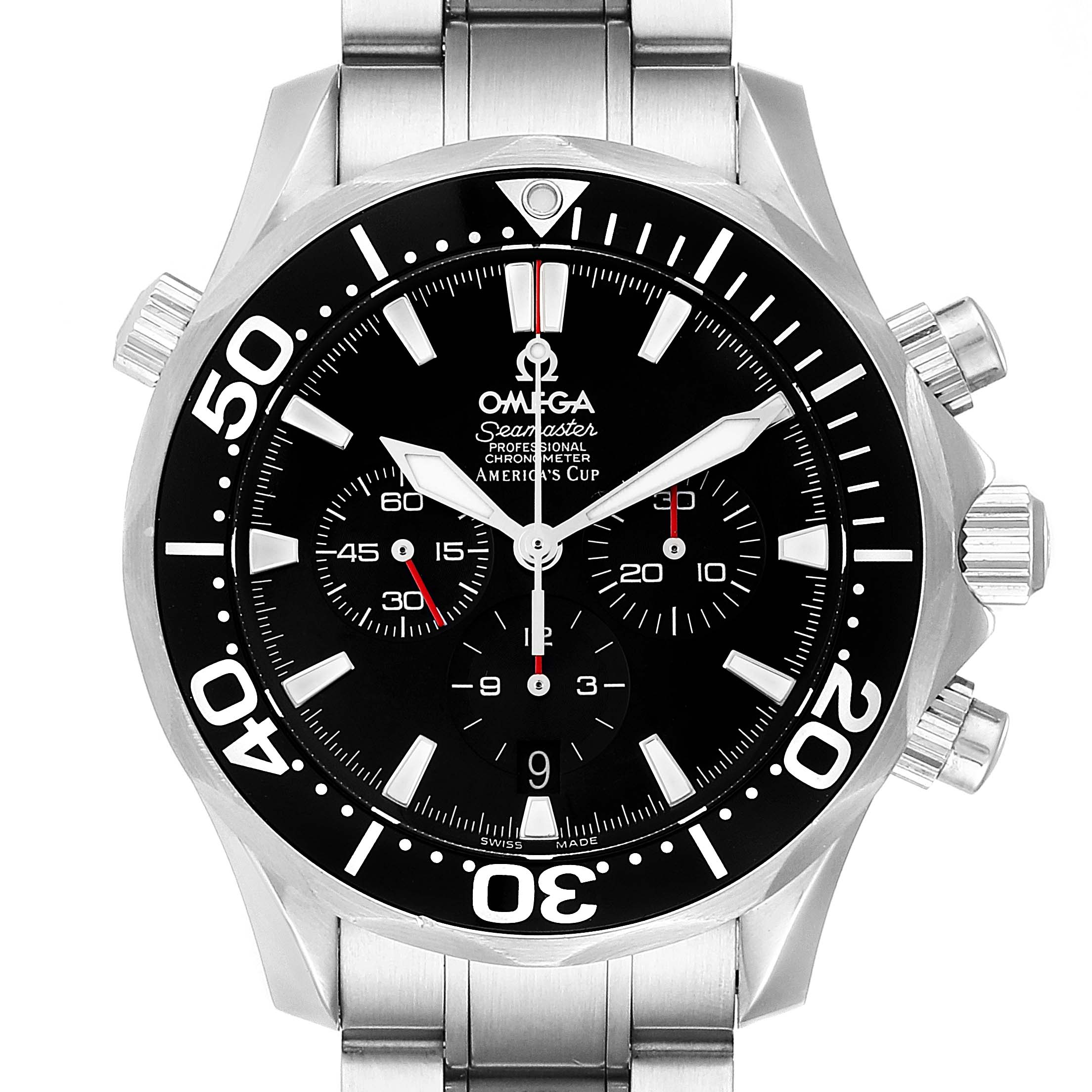 Omega Seamaster 300M Chronograph Americas Cup Watch 2594.50.00 Box Card