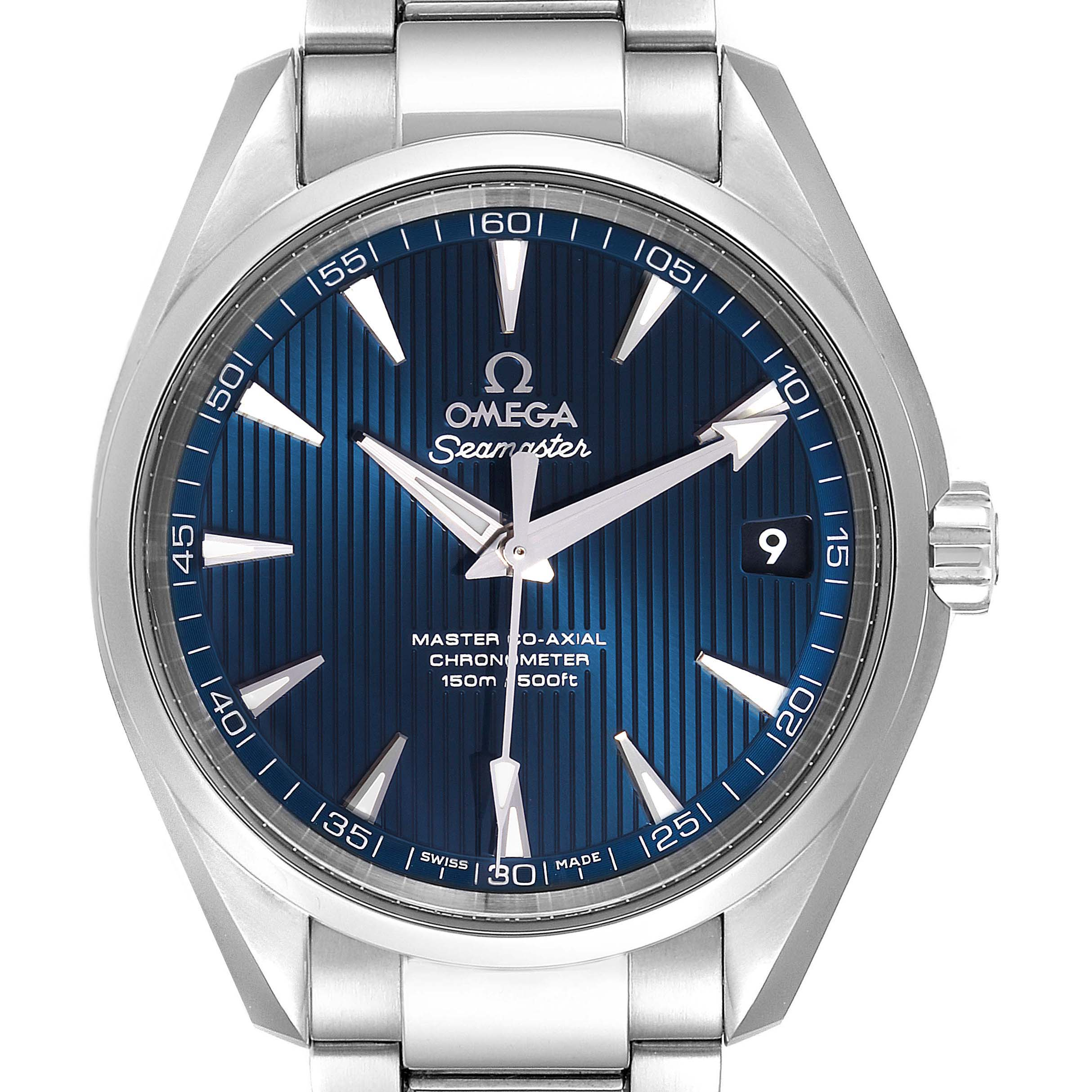 Omega Seamaster Aqua Terra Blue Dial Watch 231.10.39.21.03.002 Box Card