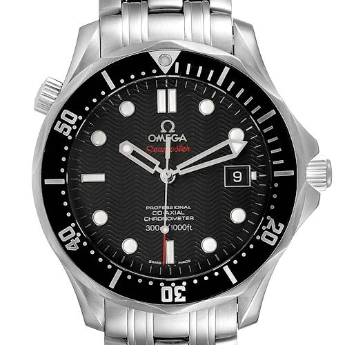 Photo of Omega Seamaster Black Dial Steel Mens Watch 212.30.41.20.01.002 Card