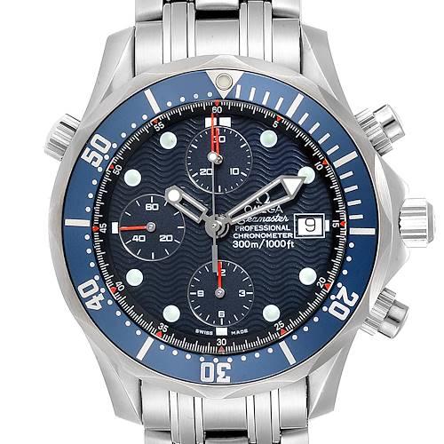 Photo of Omega Seamaster Bond Chrono Blue Dial Mens Watch 2599.80.00 Box Card