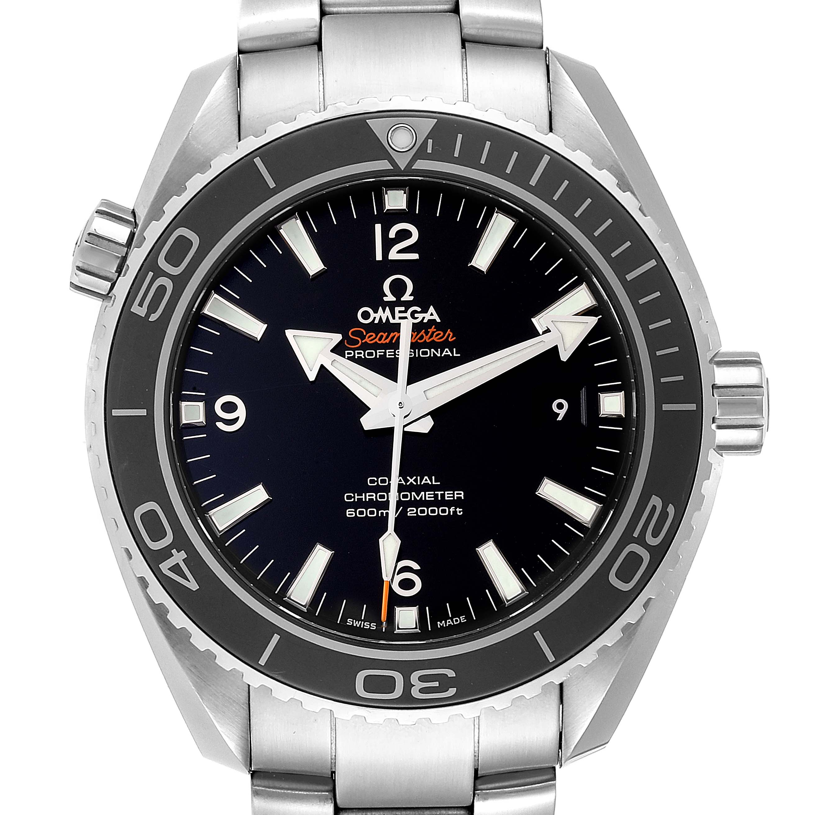 Omega Seamaster Planet Ocean 600M Mens Watch 232.30.46.21.01.001 Card