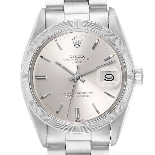 Photo of Rolex Date Vintage Silver Dial Oyster Bracelet Steel Mens Watch 1501