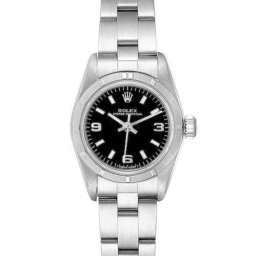 Photo of Rolex Oyster Perpetual Black Dial Oyster Bracelet Ladies Watch 67230