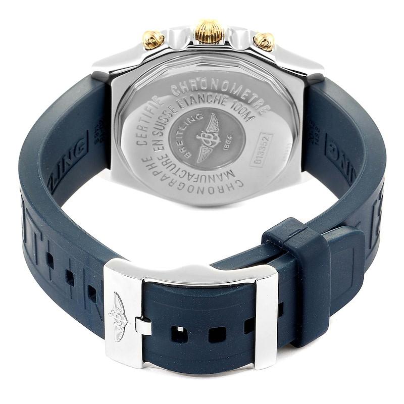 Breitling Chronomat Steel Yellow Gold Mens Watch B13352 Box Papers SwissWatchExpo