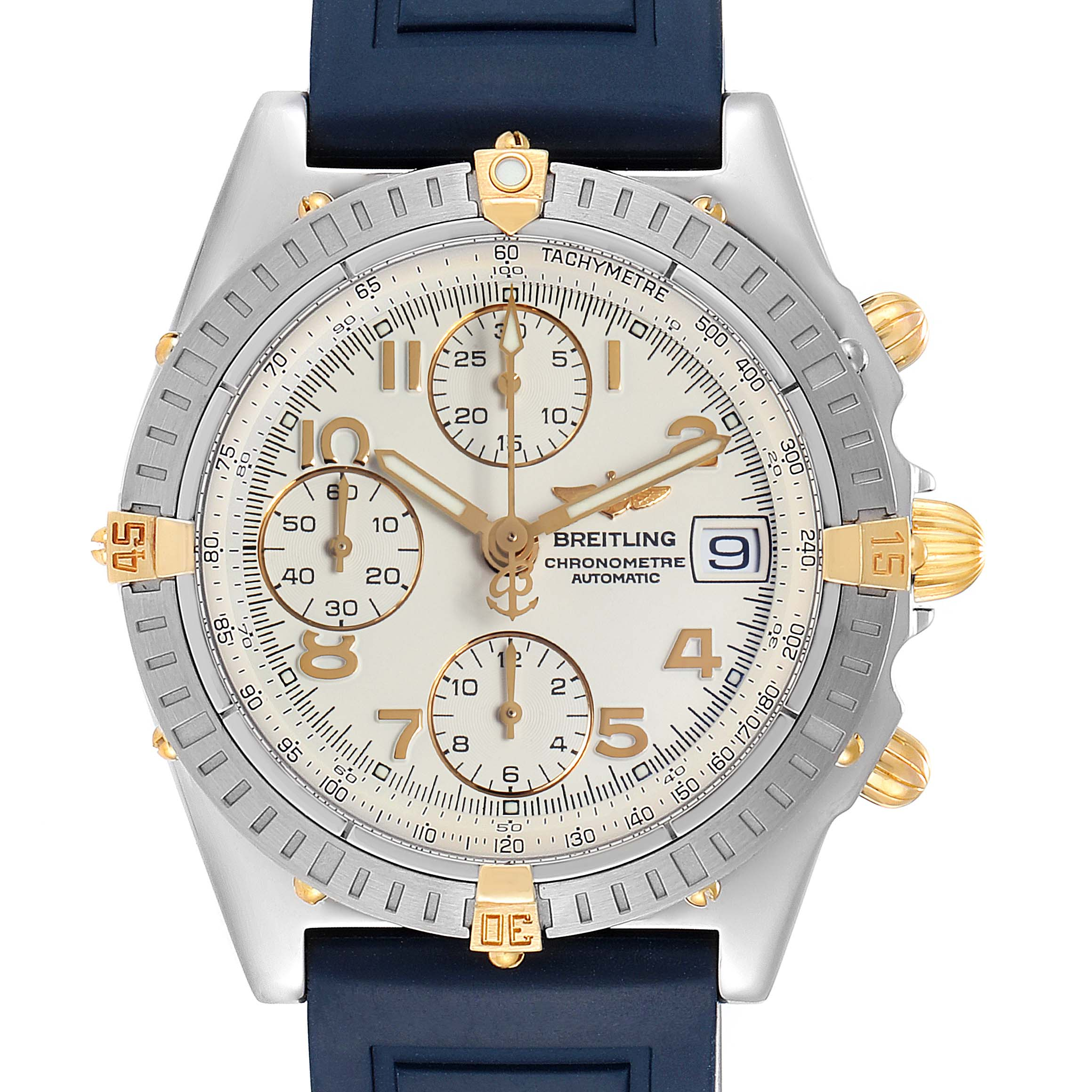 Breitling Chronomat Steel Yellow Gold Mens Watch B13352 Box Papers SwissWatchExpo