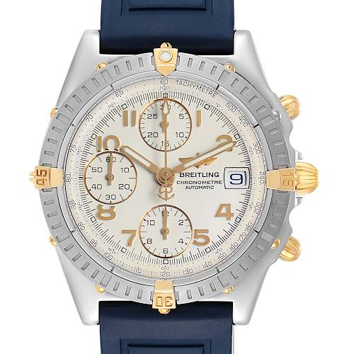 Photo of Breitling Chronomat Steel Yellow Gold Mens Watch B13352 Box Papers