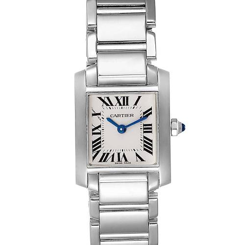 Photo of NOT FOR SALE - Cartier Tank Francaise 18K White Gold Quartz Ladies Watch W50012S3 - 2 LINKS ADDED