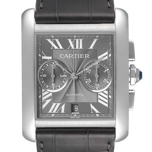 Photo of Cartier Tank MC Grey Dial Chronograph Mens Watch W5330008 Unworn