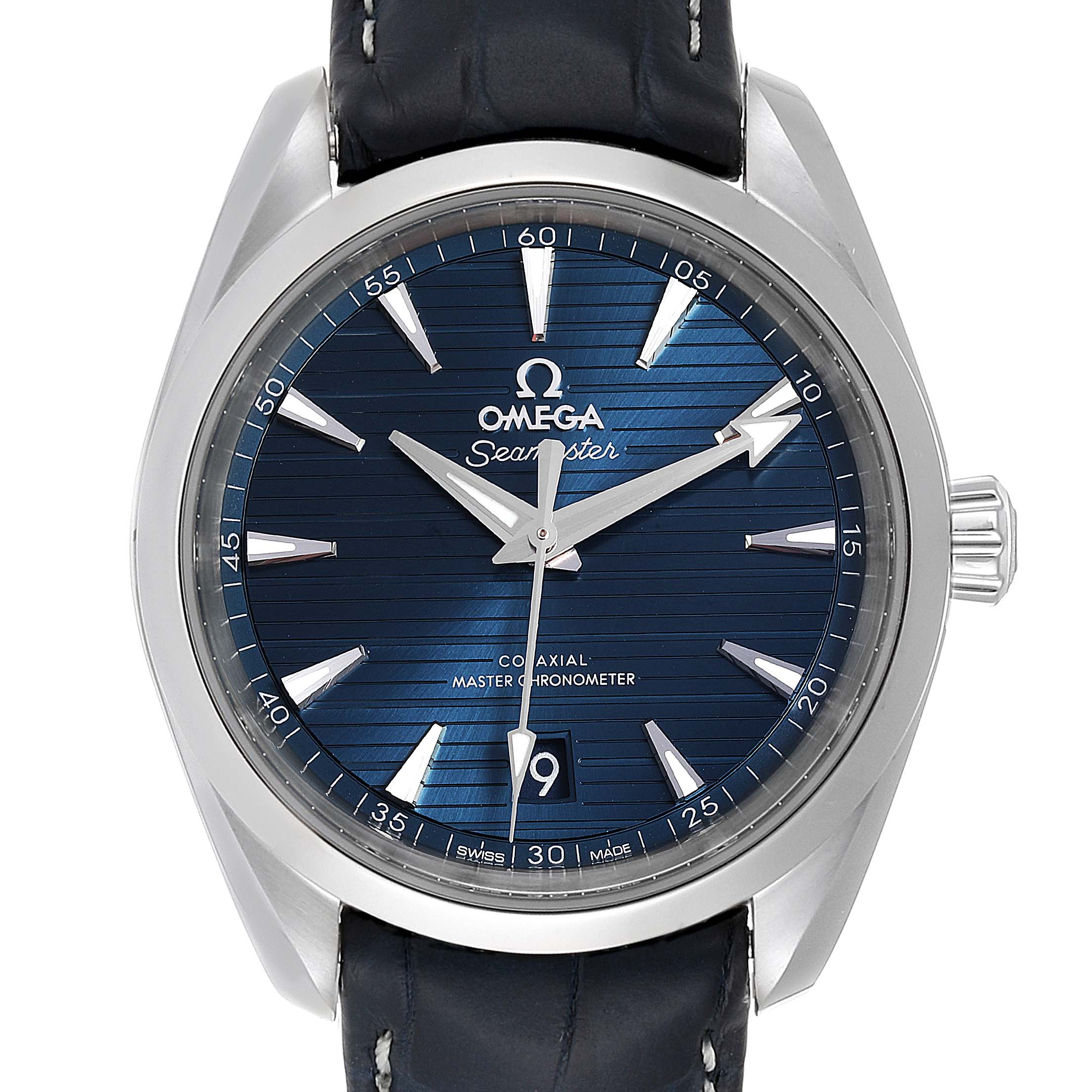 Omega Seamaster Aqua Terra Blue Dial Watch 220.13.38.20.03.001 Box Card SwissWatchExpo
