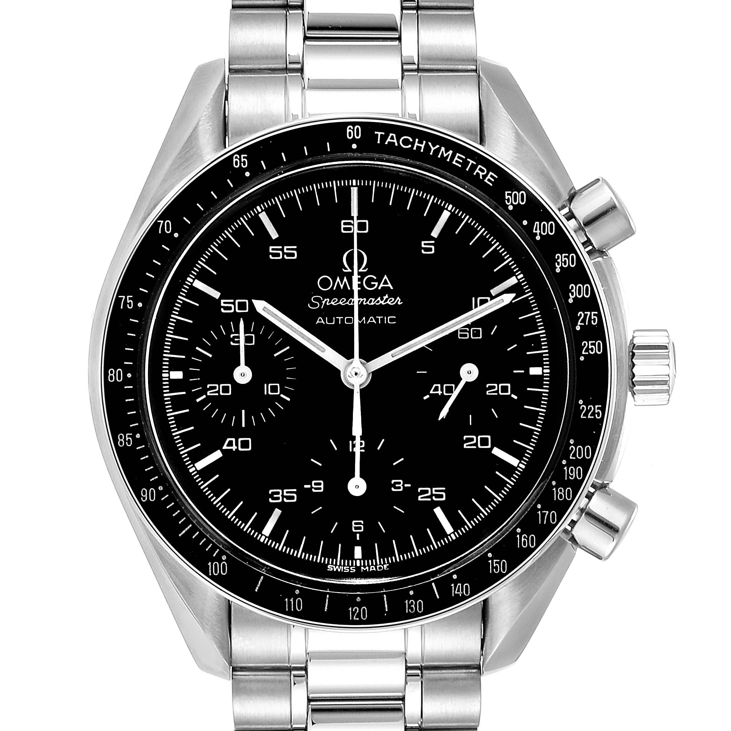 Omega Speedmaster Reduced Hesalite Automatic Mens Watch 3510.50.00 Card