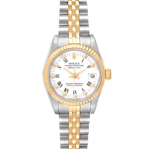 Photo of Rolex Datejust Steel Yellow Gold White Dial Ladies Watch 69173 3 LINKS ADDED