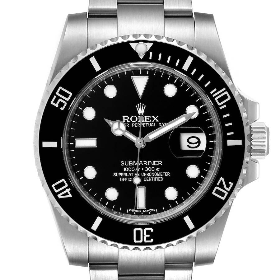 Rolex Submariner Black Dial Ceramic Bezel Steel Mens Watch 116610 Box Card SwissWatchExpo