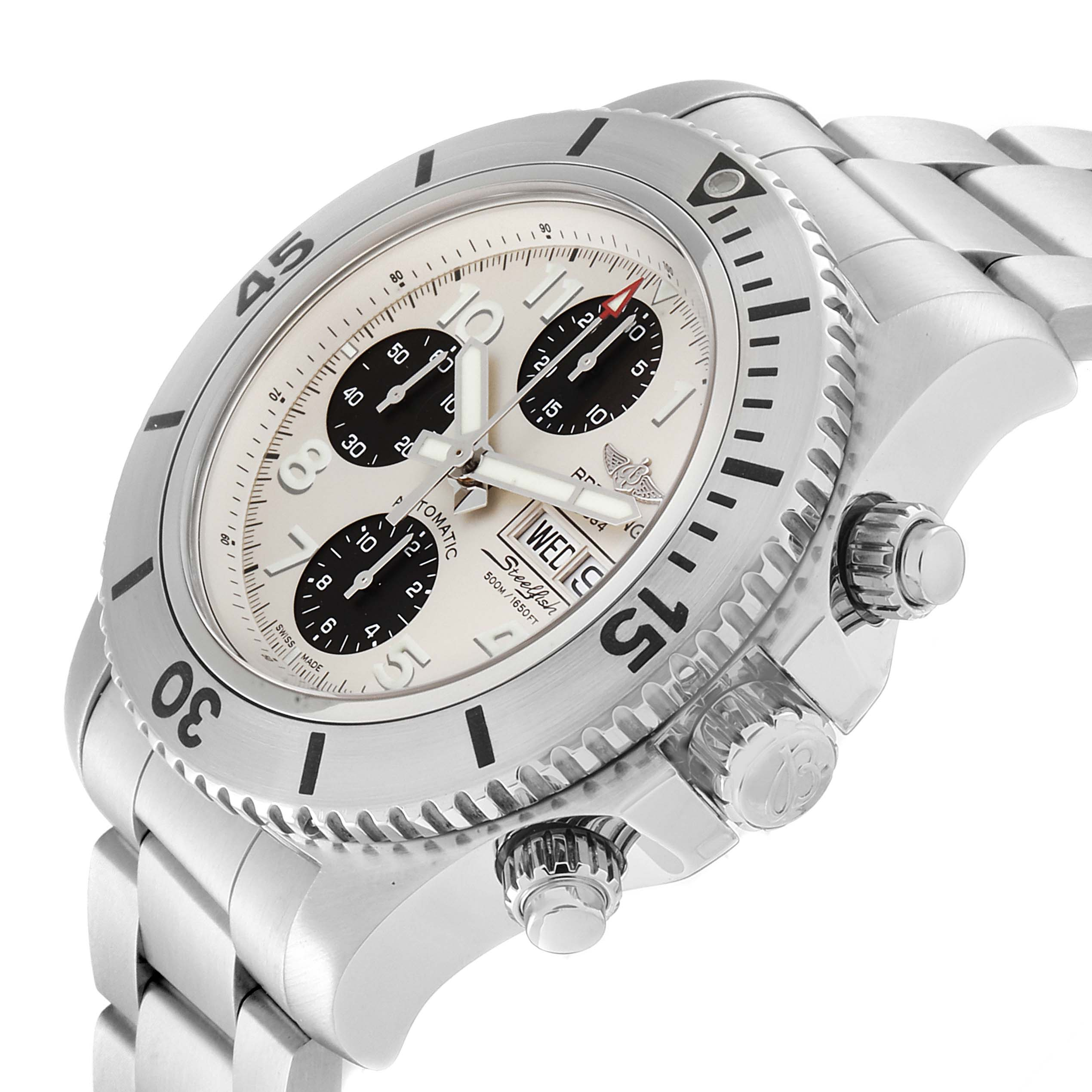 Breitling Aeromarine SuperOcean Chronograph II Watch A13341 Box Papers SwissWatchExpo