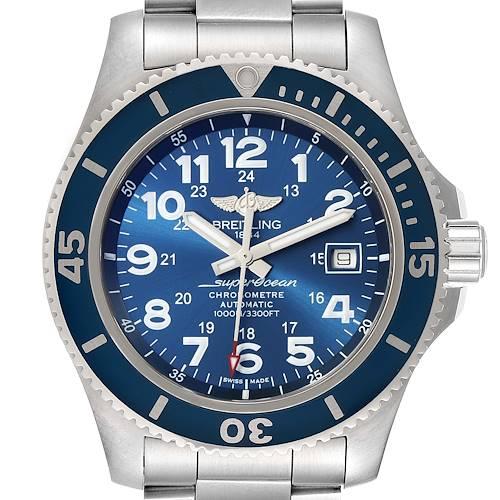 Photo of Breitling Superocean II 44 Blue Dial Steel Mens Watch A17392