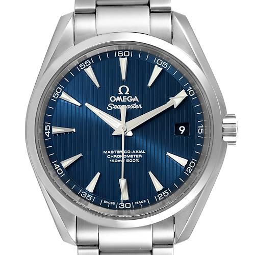 Photo of Omega Seamaster Aqua Terra Blue Dial Watch 231.10.42.21.03.003 Box Card