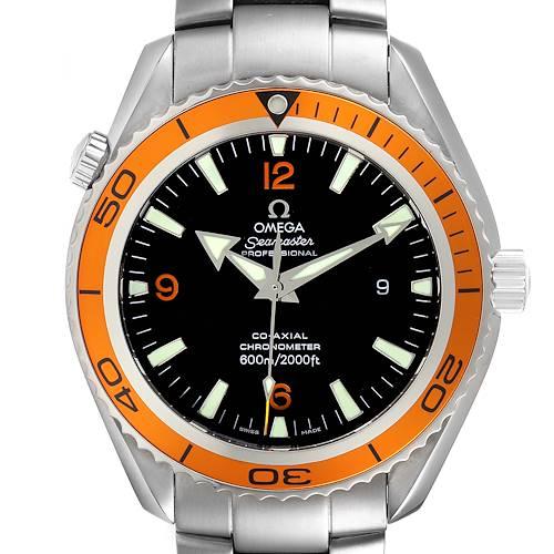 Photo of Omega Seamaster Planet Ocean XL Orange Bezel Mens Watch 2208.50.00 Card