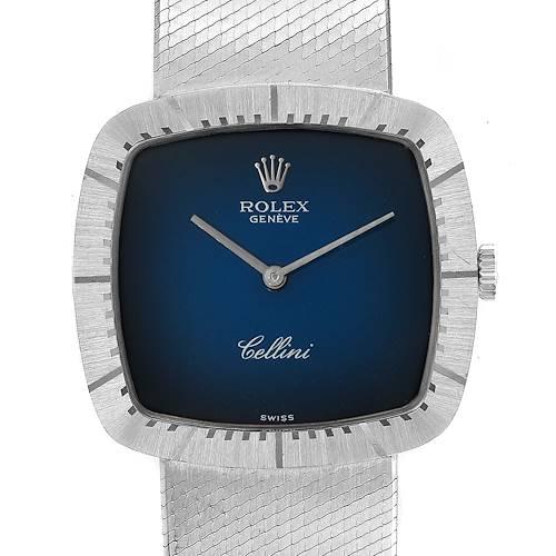 Photo of Rolex Cellini 18k White Gold Vignette Dial Mens Vintage Watch 4320