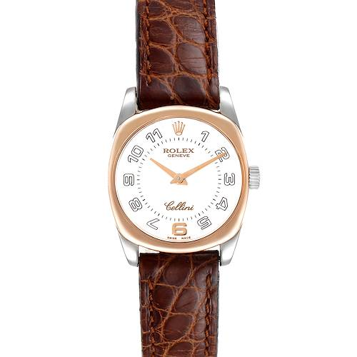 Photo of Rolex Cellini Danaos 18K White Rose Gold White Dial Ladies Watch 6229