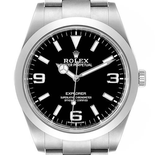 Photo of Rolex Explorer I Luminescent Arabic Numerals Steel Mens Watch 214270