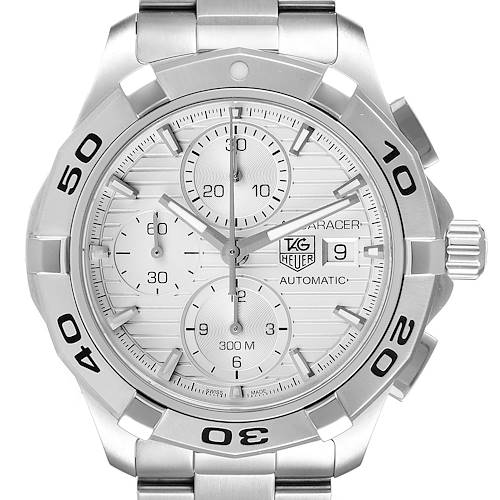 Photo of Tag Heuer Aquaracer Silver Dial Chronograph Steel Mens Watch CAP2111