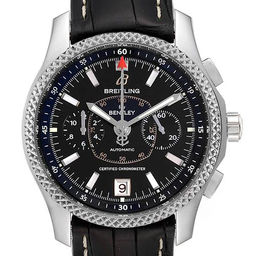 Photo of Breitling Bentley Mark VI Black Dial Steel Platinum Mens Watch P26362