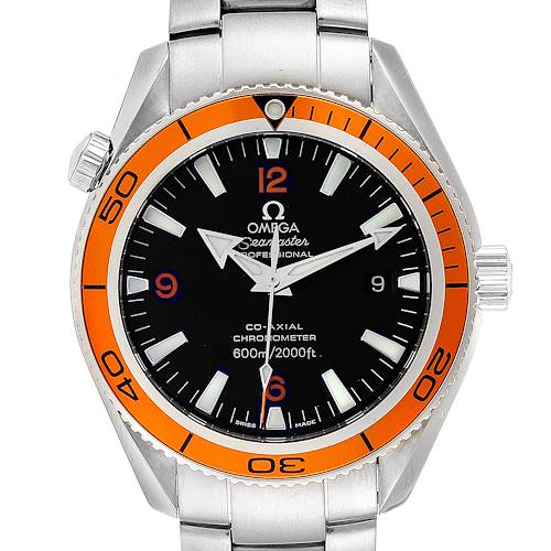 Photo of Omega Seamaster Planet Ocean Orange Bezel Steel Mens Watch 2209.50.00