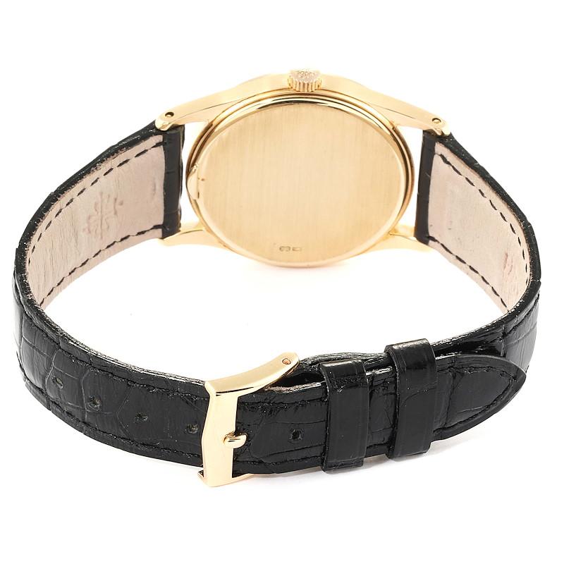 Patek Philippe Calatrava 18k Rose Gold Vintage Watch 3796 SwissWatchExpo
