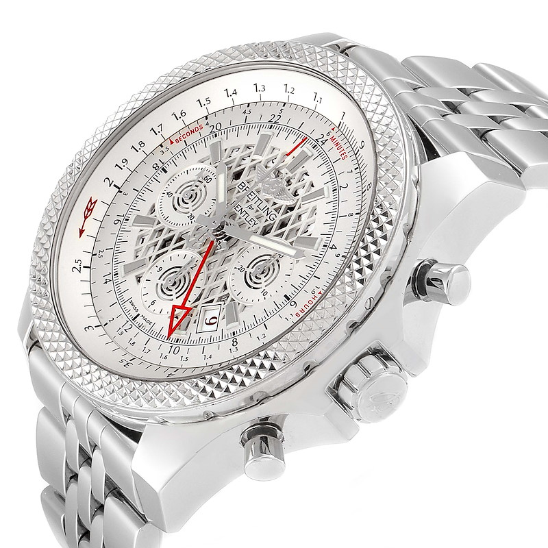 Breitling Bentley GMT Chronograph Silver Dial Watch AB0431 Box SwissWatchExpo