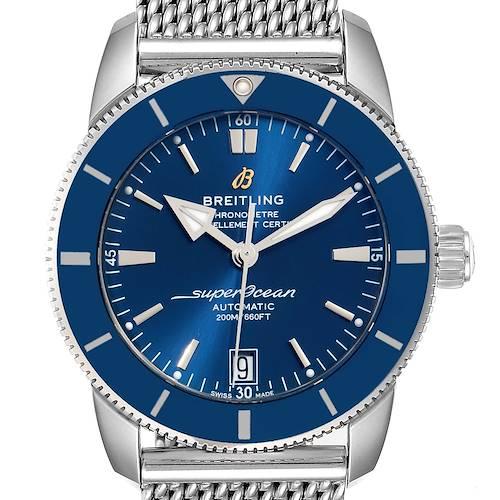 Photo of Breitling Superocean Heritage II 42 Blue Dial Steel Watch AB2010 Box Papers