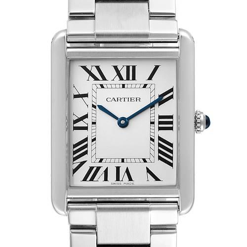 Photo of Cartier Tank Solo Silver Dial Steel Mens Watch W5200014