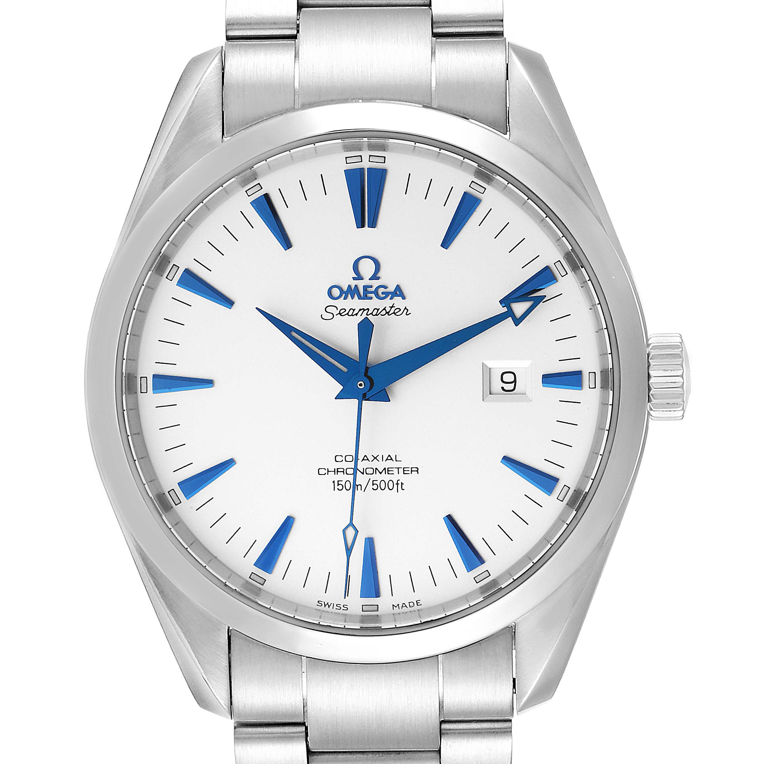 Omega Seamaster Aqua Terra Big Size Steel Mens Watch 2502.33.00 Card