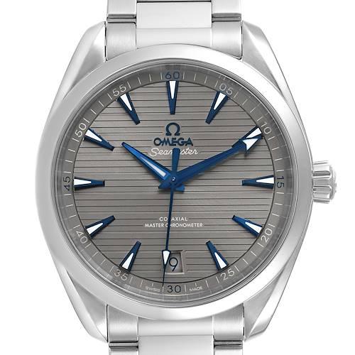 Photo of Omega Seamaster Aqua Terra Grey Dial Mens Watch 220.10.41.21.06.001 Box Crad
