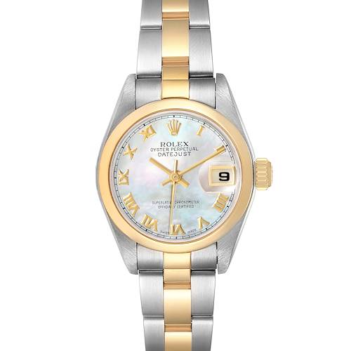 Photo of Rolex Datejust Steel Yellow Gold MOP Dial Ladies Watch 79163 Box Papers