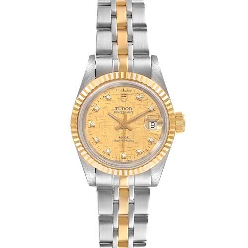 Photo of Tudor Princess Date Steel Yellow Gold Diamond Ladies Watch 225033 Papers