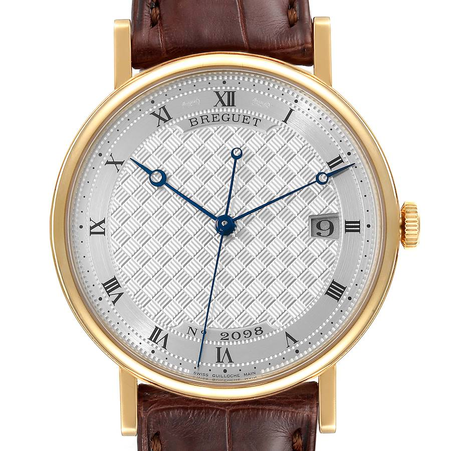 Breguet Classique 18K Yellow Gold Silver Dial Mens Watch 5177 Tag SwissWatchExpo